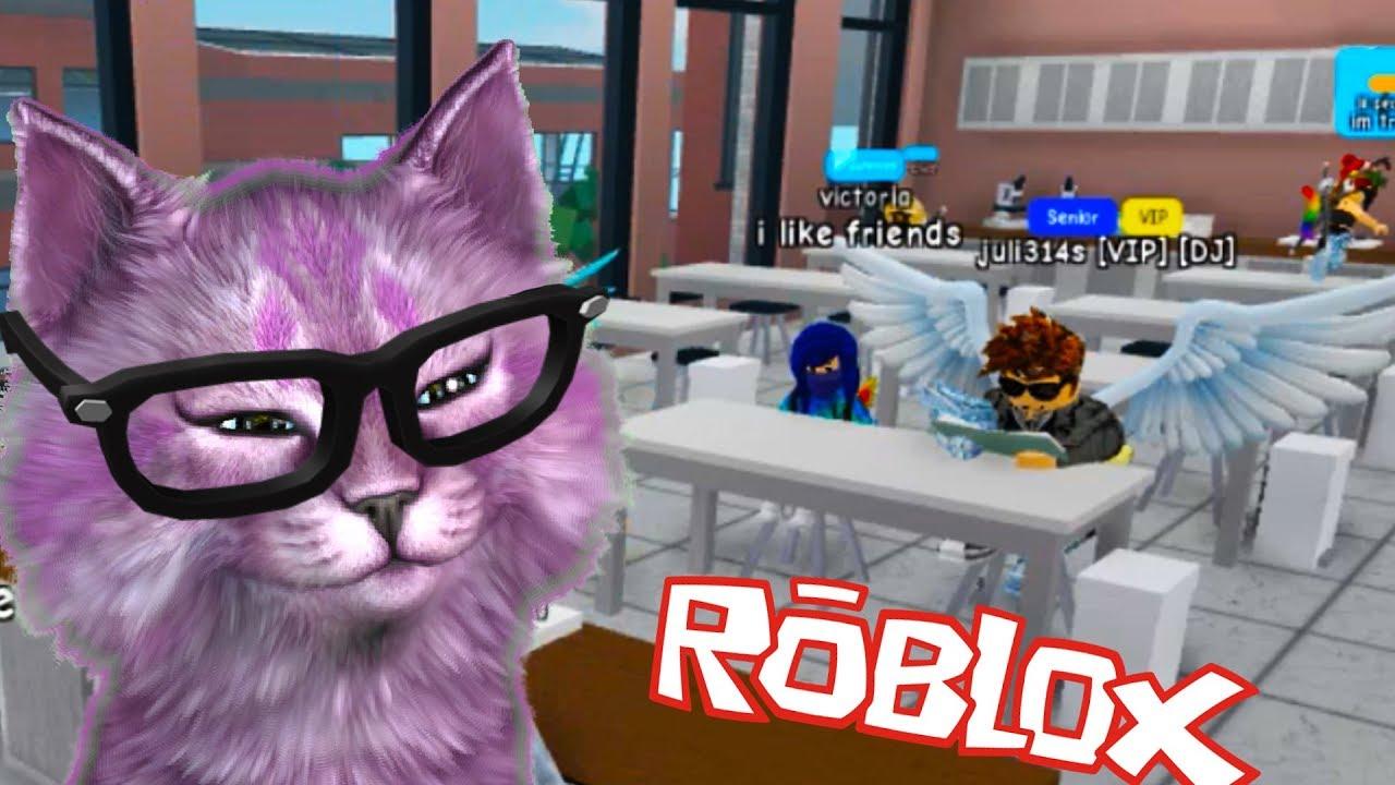 КОШКА ЛАНА УЧИТЕЛЬ В ШКОЛЕ РОБЛОКСА! ROBLOX Highschool ...