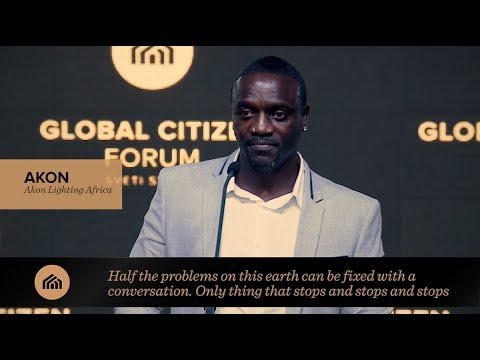 Akon speaks at Global Citizen Forum 2017
