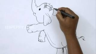 How to Draw a Circus Elephant