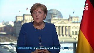 À la tête de l'Allemagne, la chancelière Angela Merkel qui impressionne par sa longévité : 15 années au pouvoir, elle a connu 4 présidents français.