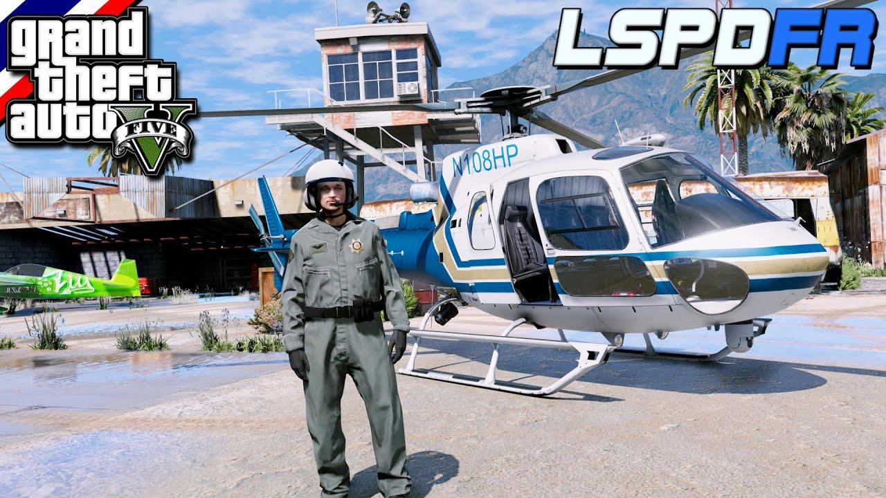 GTA V - LSPDFR มาเป็นตำรวจในเกม GTA V ตำรวจนักบินไล่ล่าระทึก คนร้ายซิ่งรถหลบหนีตำรวจ #125