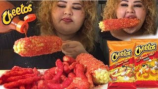 Flamin Hot Cheetos Corn on the Cob/ Mukbang @Wendys Eating Show