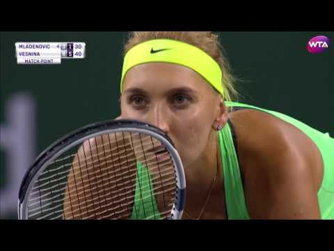 2017 BNP Paribas Open Semifinals | Elena Vesnina vs Kristina Mladenovic | WTA Highlights