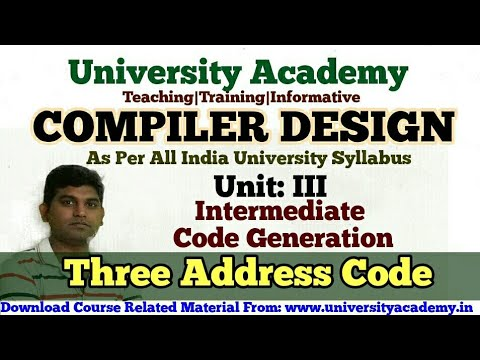 cd36:-intermediate-three-address-code-|-quadruples-representation|triples-representation-in-compiler