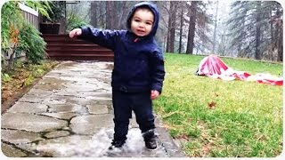 Kid Struggles With Water Puddle | Balancing Act
