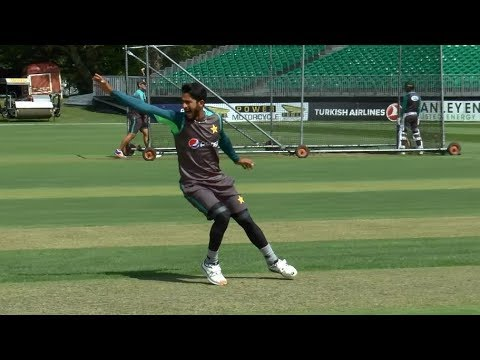 PAKISTAN BATTING PRACTICE - HASAN ALI BOWLING AGGRESSIVELY