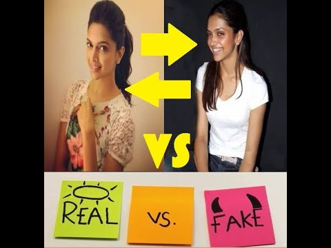 Real Vs Fake Face Makeup Vs Without Makeup Bollywood Actresses Video
