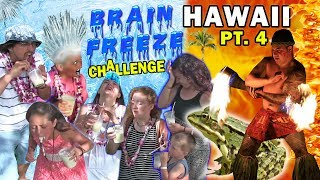 SLUSHY CHALLENGE @ LUAU in HAWAII w  Fire Show (FUNnel Vision Maui Trip Part 4) #FROGGY