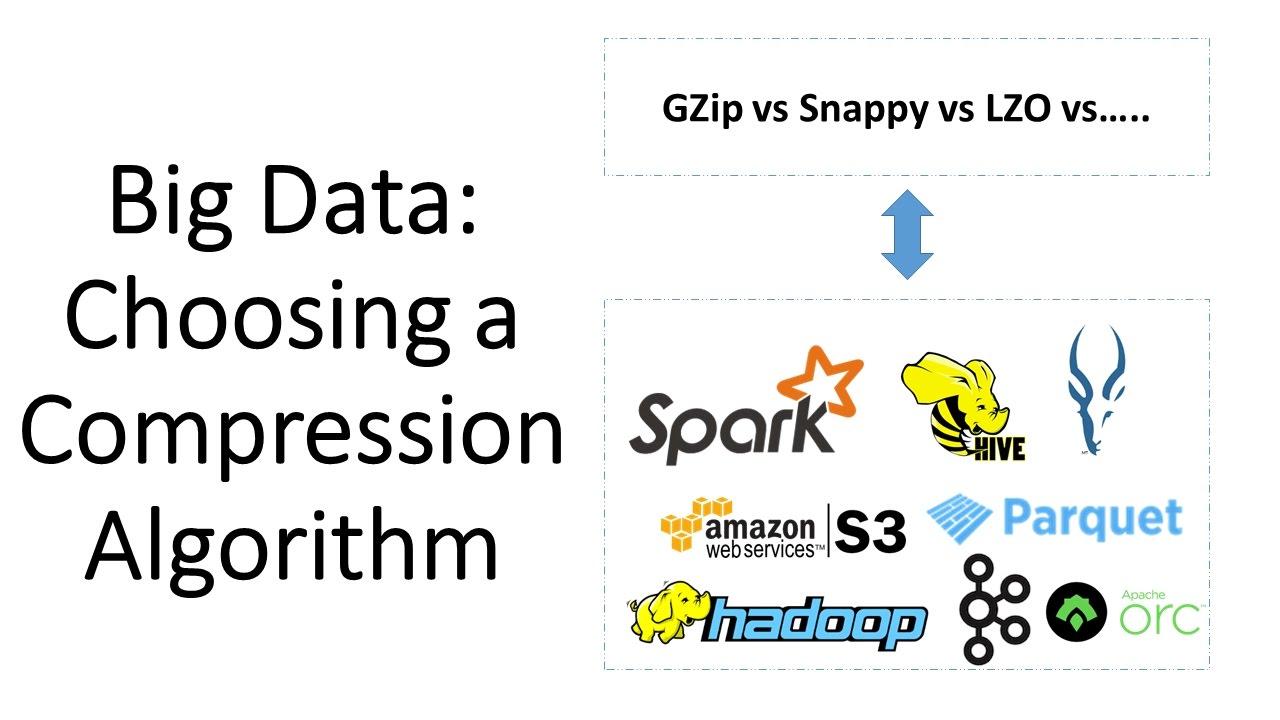 Big Data:Choosing a Compression Algorithm (Gzip vs Snappy vs LZO)