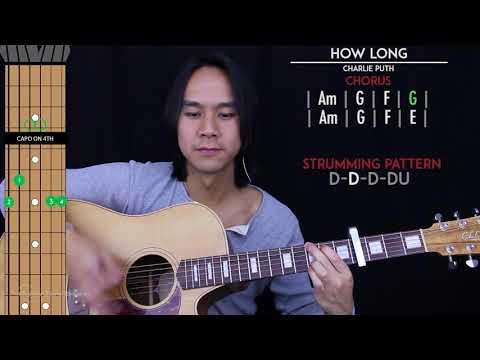 How Long Guitar Cover Acoustic - Charlie Puth 🎸 |Tabs + Chords|