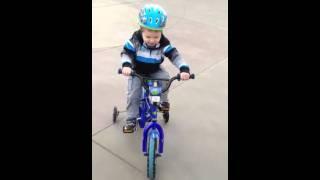 Jman rides a bike
