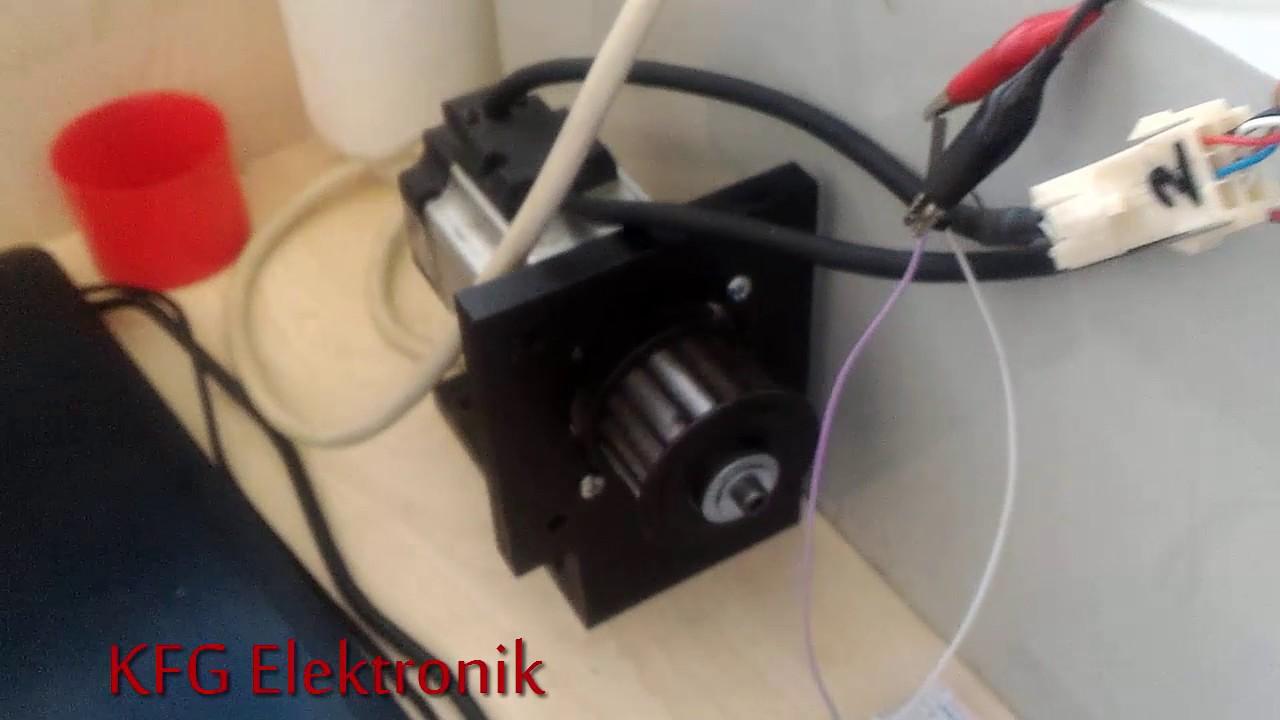 arduino ac servo motor driver control youtube