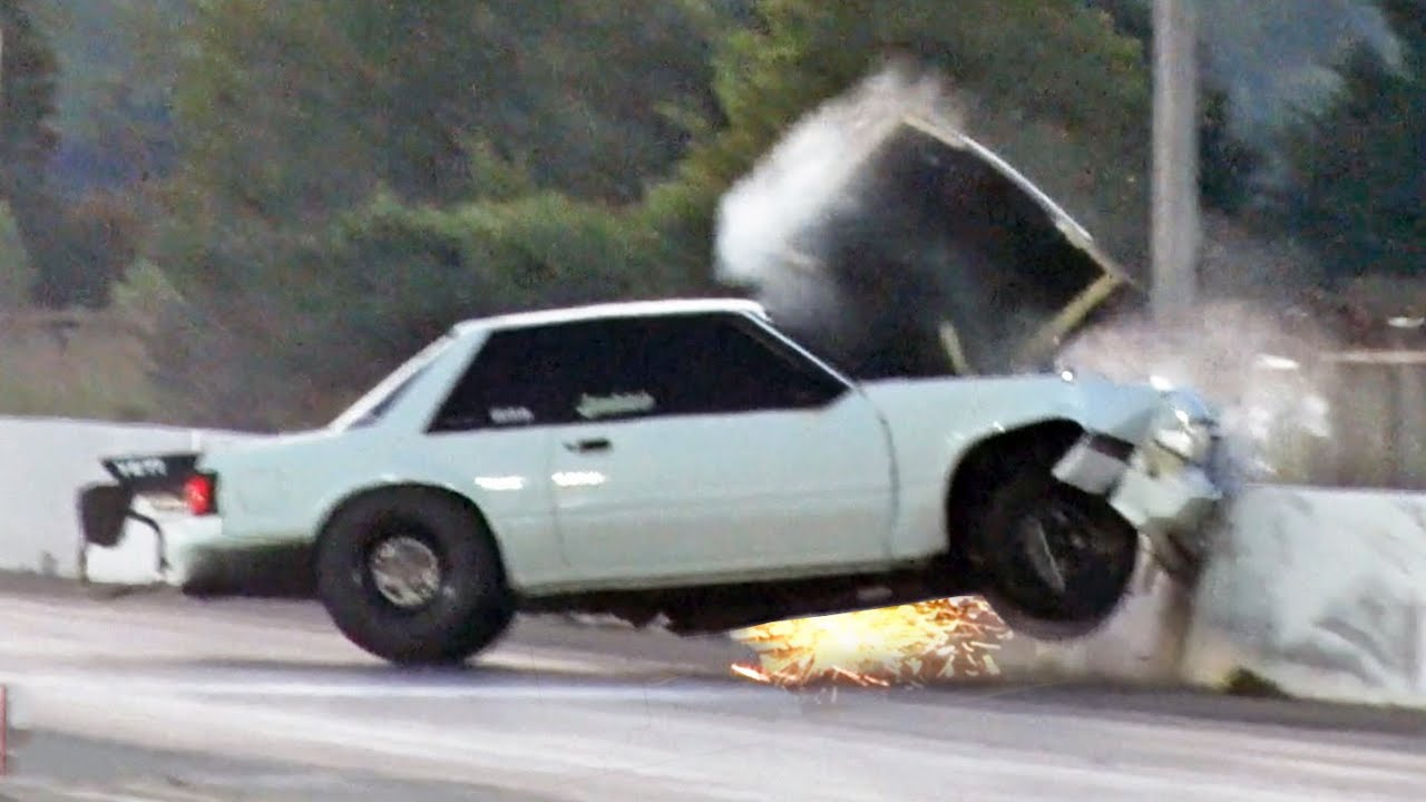 Mustang WRECK from Big Wheelie!! - YouTube