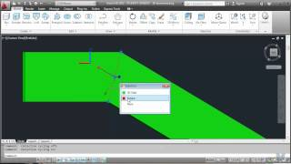 AutoCad 17 - Drawing a bridge abutment in 3D