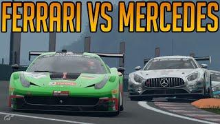Gran Turismo Sport: Fantastic Ferrari Vs Mercedes Fight