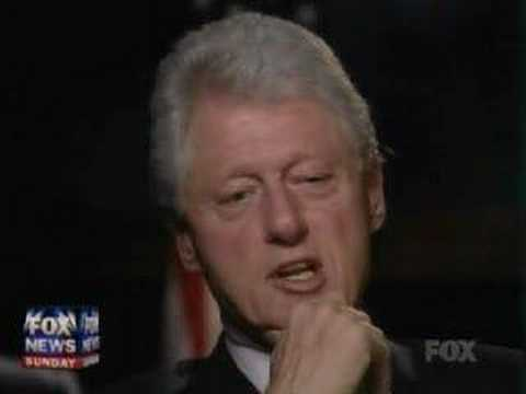 Bill Clinton on Fox News Sunday (Part 3 of 3)