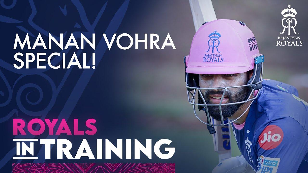 Manan Vohra in the nets   IPL 2021