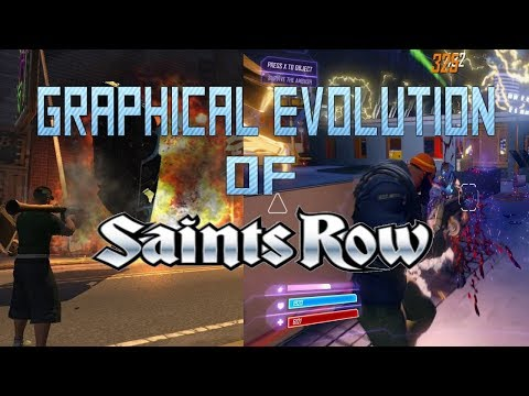 Graphical Evolution of Saints Row (2006-2017)