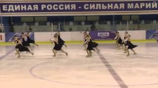 Чемпионат России по синхронному катанию  КМС  КП 1 Юность ЕКА