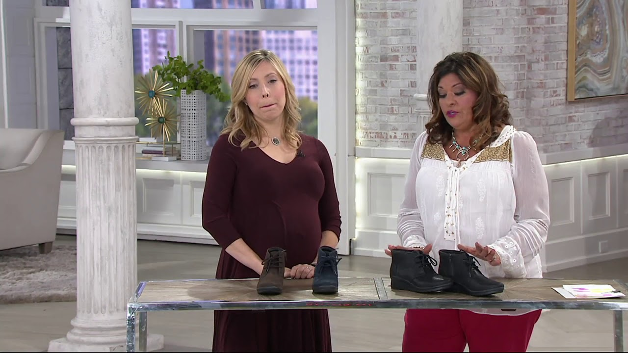 5cf0e192f52b Clarks Cloud Steppers Lace up Ankle Boots- Caddell Hop on QVC - YouTube