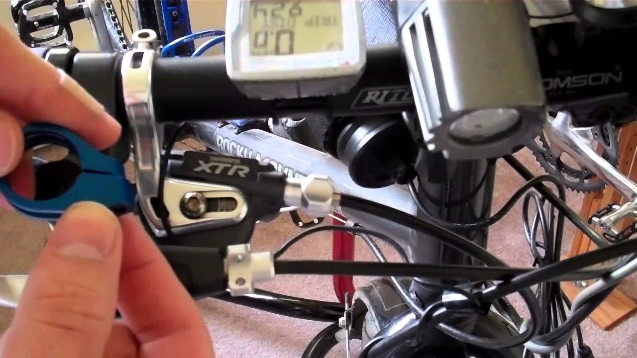 Clapton Clamps For Shimano Xtr M 970 Shifters Youtube