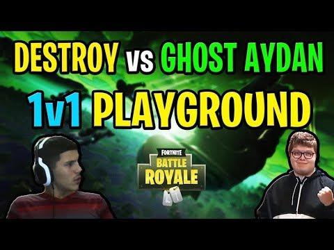 Destroy vs Ghost Aydan 1v1 Playground for MONEY!! (I BEAT HIM 5-0)