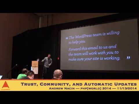 Keynote: Andrew Nacin — Trust, Community, and Automatic Upda