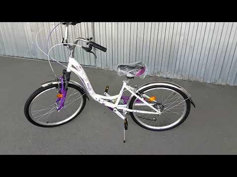 24 Novatrack BUTTERFLY 2019  подростковый велосипед Видеообзор.