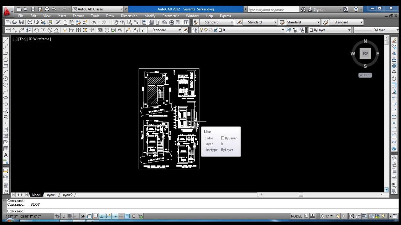 How To Convert Autocad File To Pdf File In Autocad ( Tutorials ) ( Day4 )