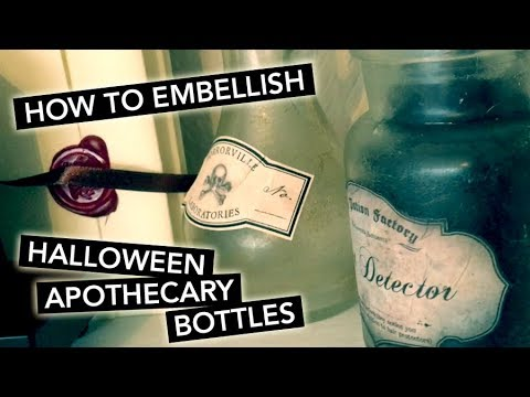 EMBELLISH Halloween Apothecary Bottles with me | TUTORIAL