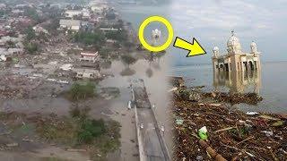 Video Pantauan Udara Kota Palu Luluh Lantah usai Tsunami, Masjid Apung hingga Jembatan Kuning Hancur