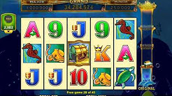 DOLPHIN TREASURE GOLD Video Slot Casino Game with a RETRIGGERED FREE SPIN BONUS