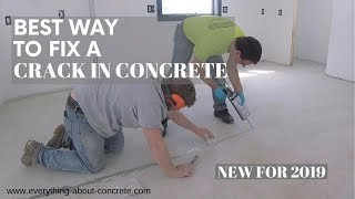 HOW TO REPAIR CRACKS IN A CONCRETE FLOOR | A STEP BY STEP GUIDE