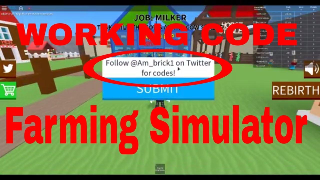 all roblox farming simulator codes