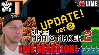 Der Zelda Speedrun Maker! - Mario Maker 2 Update 2.0 - Live Reaction