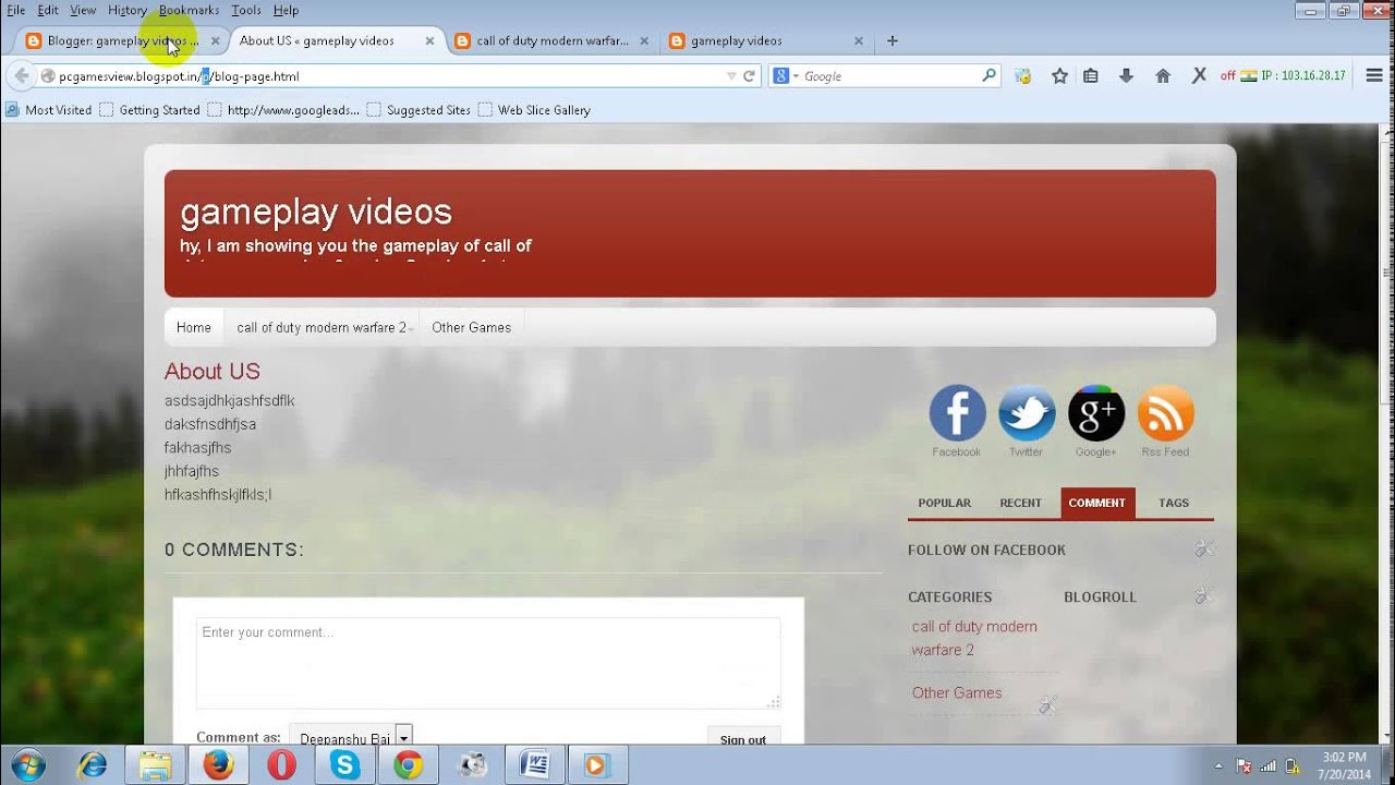How to Add a Page to Blogger like (About us privacy policy) - YouTube