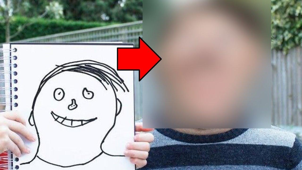 férgek a gyermekek rajzaiban
