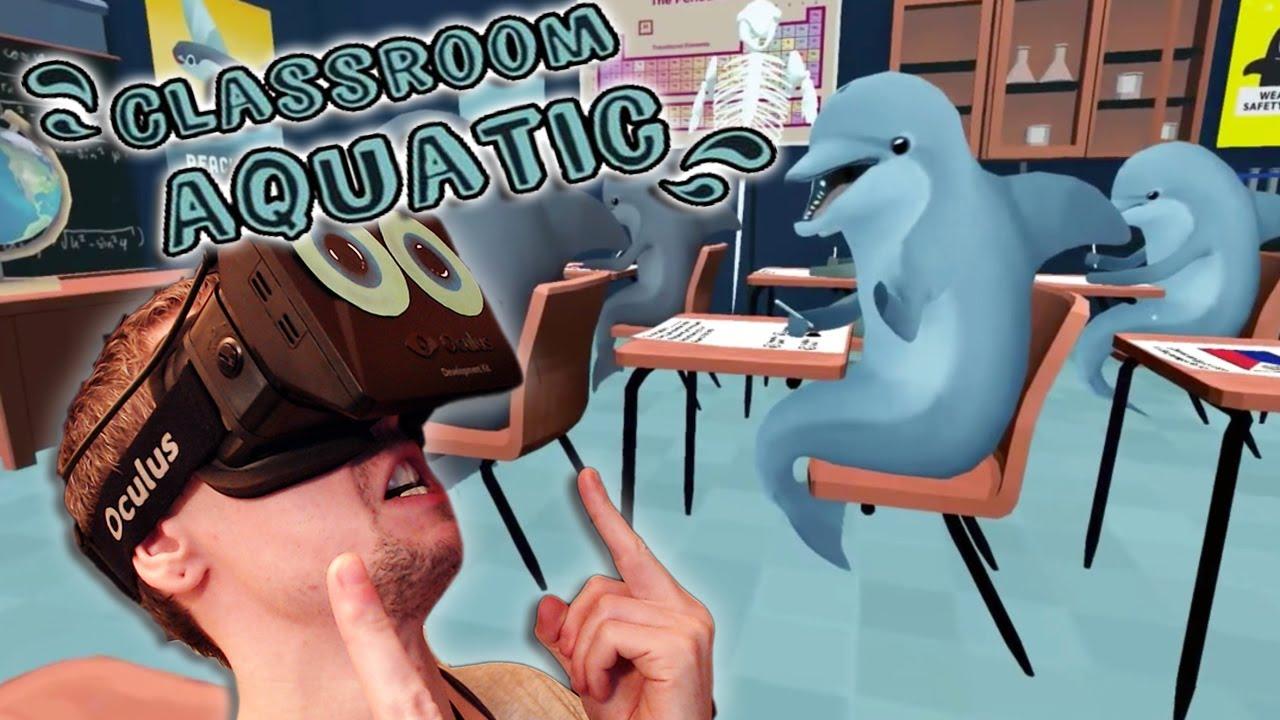 Oculus rift dolphin classroom decor