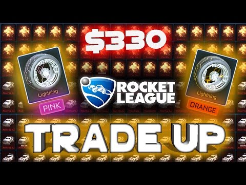 MOST EXPENSIVE ROCKET LEAGUE TRADE UP?? | 70+ EXOTICS???