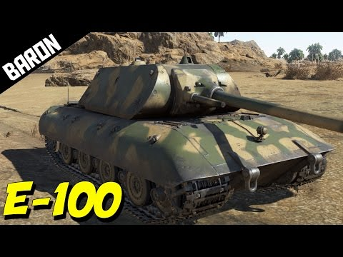 WAR THUNDER TANKS E-100 ACE Tanker Gameplay!  RARE Tank