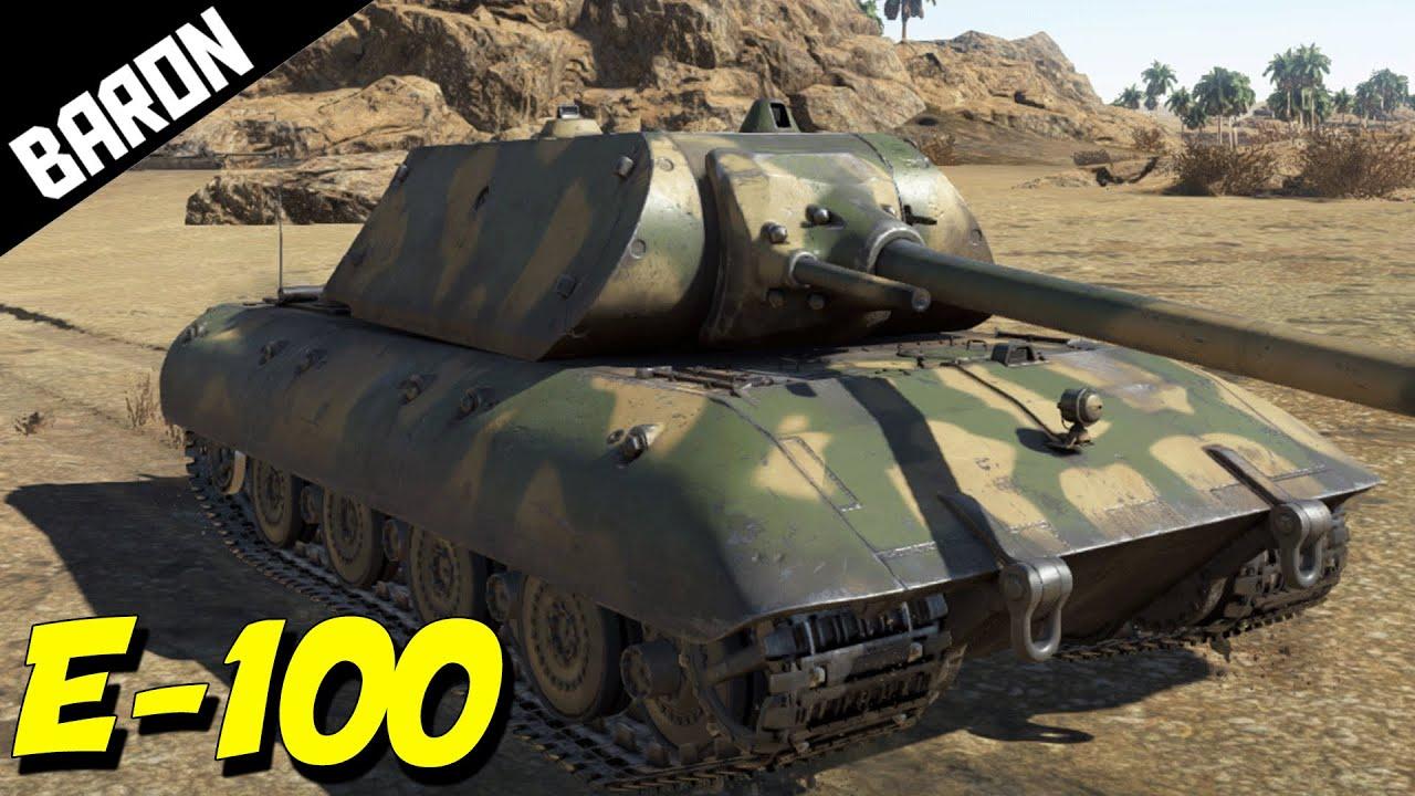 WAR THUNDER TANKS E-100 ACE Tanker Gameplay! RARE Tank ...