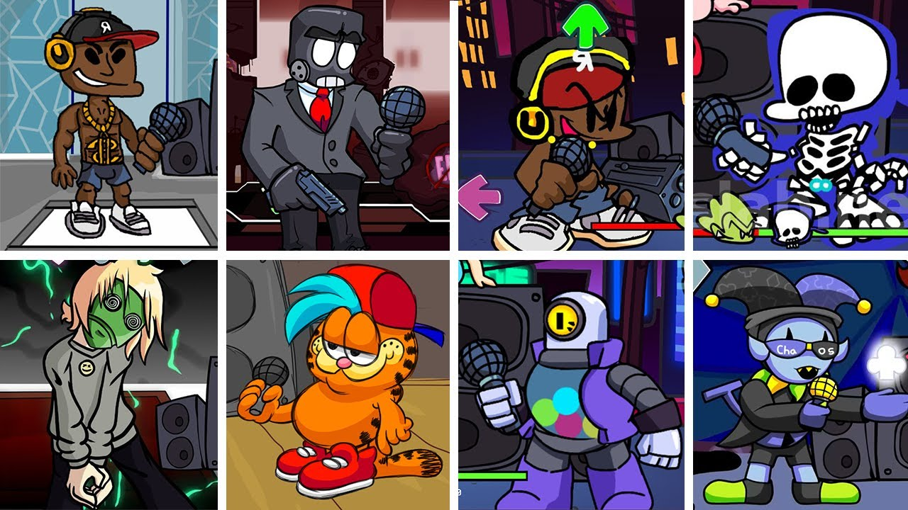 Friday Night Funkin' - All Characters Singing Collected