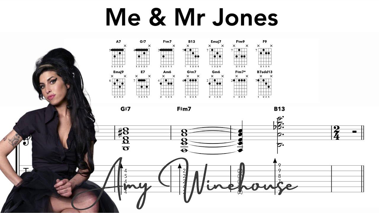 Me & Mr Jones Guitar Chords   Amy Winehouse