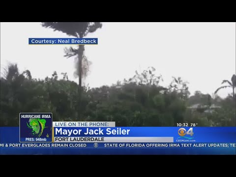 Fort Lauderdale Mayor Jack Seiler asseses Hurricane Irma impact on the area.