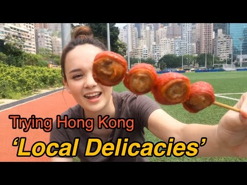 Trying HK Local Delicacies (Pigs Colon, Century Egg & more…)