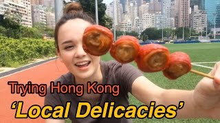 Trying Hong Kong Local Delicacies (Pigs Colon, Century Egg...) | ASHA ETC