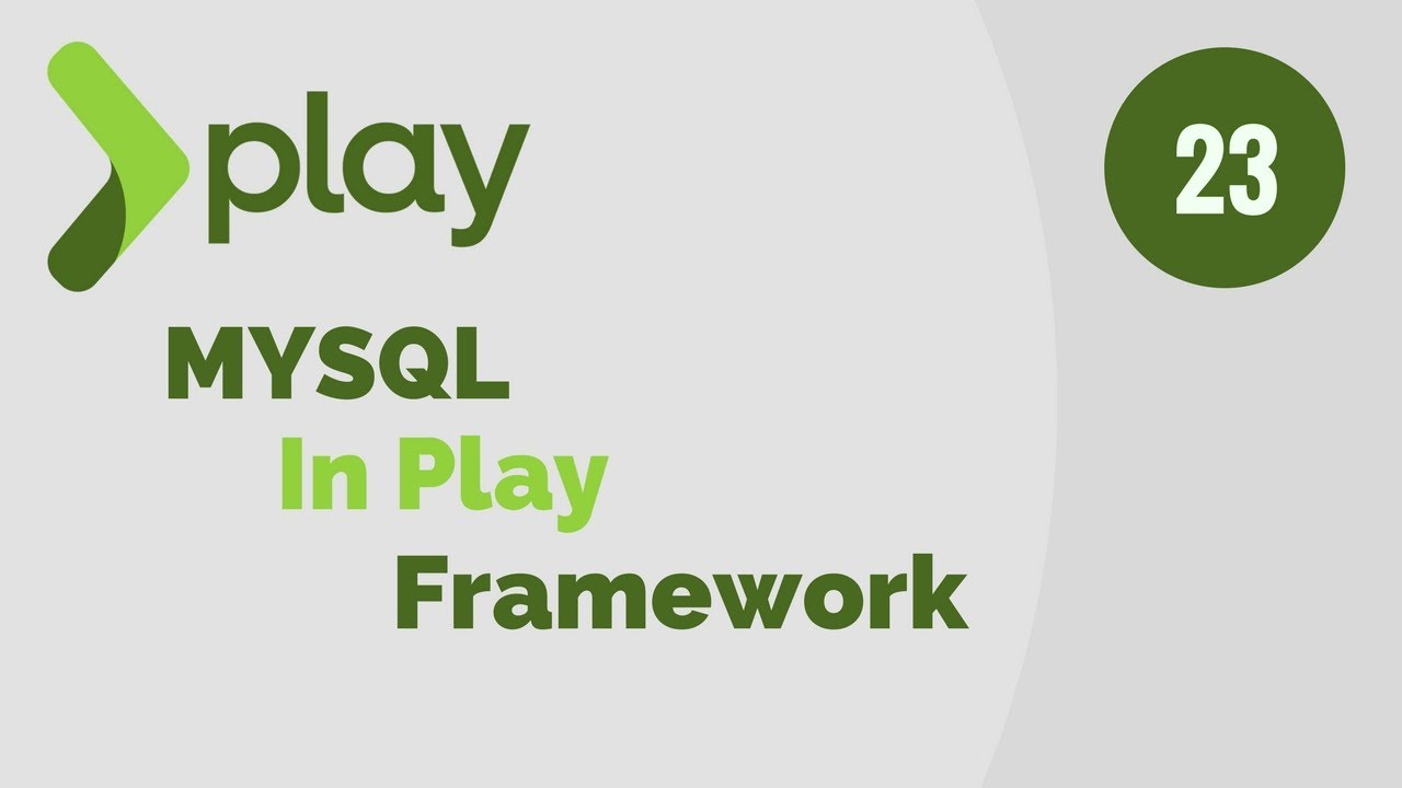 play framework tutorial # 23 | add support for mysql database in