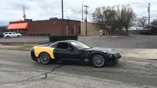 Corvette Z06 405HP full exhaust DONUTS and TAKE OFF