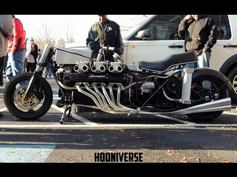 Lamborghini V12 Engine Fitted On A Motorcycle Sounds