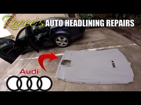 HOW TO Fix Sagging Car Roof Lining on Audi A4 Headliner